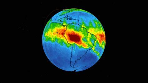 Monóxido de carbono en la atmósfera por los incendios ...