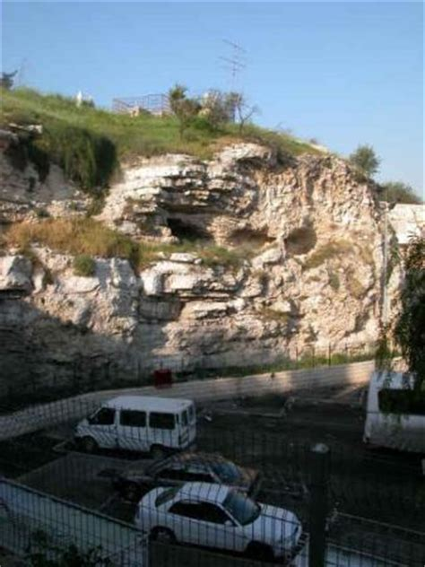 Monte Golgota, Jerusalen, Israel. Esta la colina donde se ...