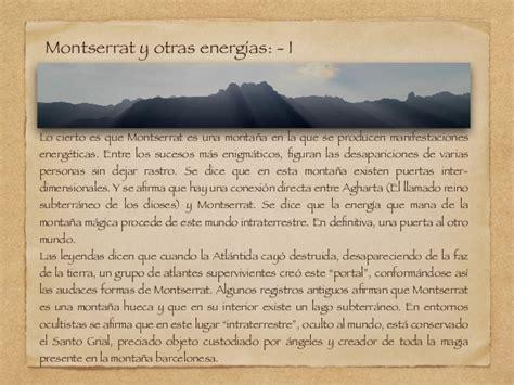 Montserrat su energía y sus misterios