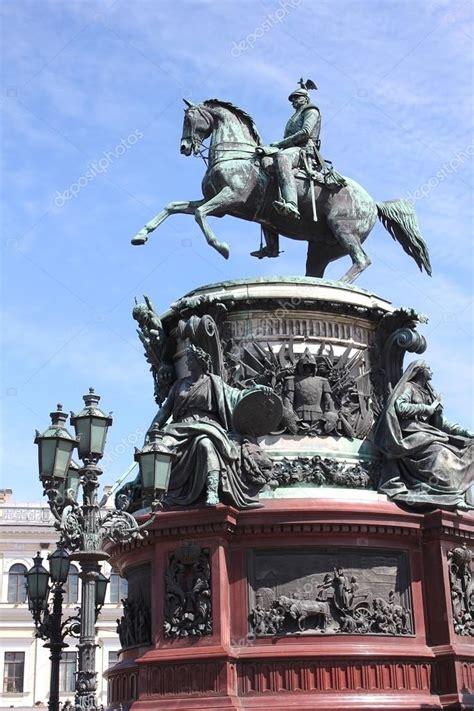 Monumento a imperor nicholas i en San Petersburgo, Rusia ...