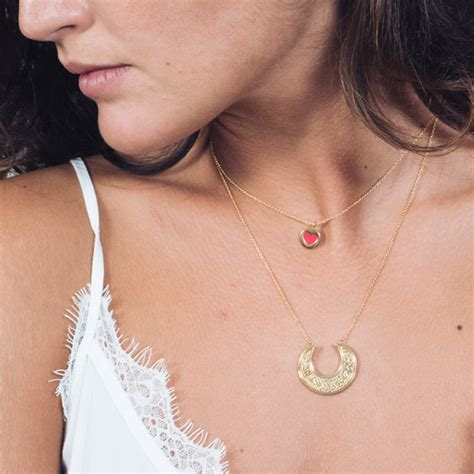MOON NECKLACE   MARIA PASCUAL JEWELRY