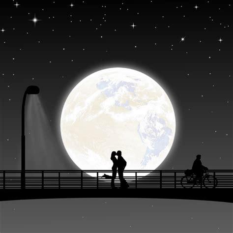 Moon Night Couple Full · Free image on Pixabay
