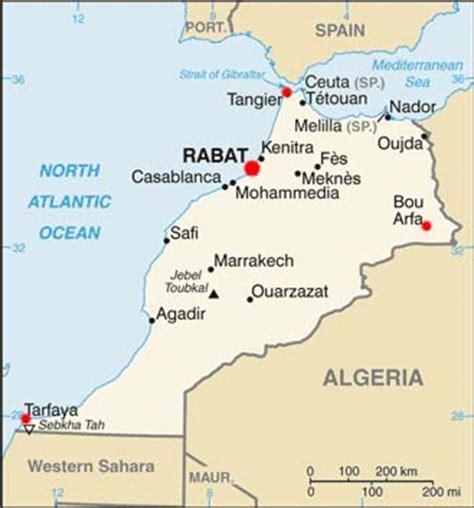 Morocco Latitude, Longitude, Absolute and Relative ...