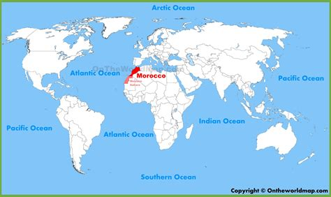 Morocco location on the World Map
