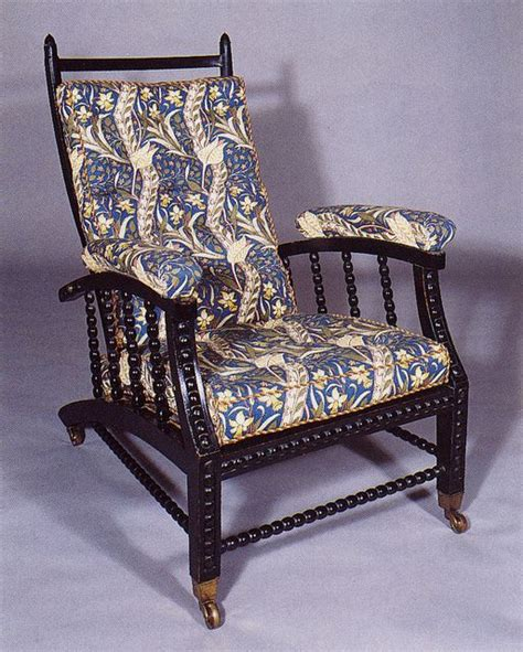 Morris Chair by William Morris & Co. in blue upholstery ...