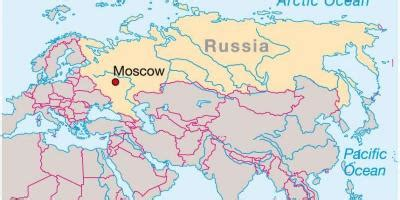 Moscow Russia on map   Moscow on map of Russia  Russia