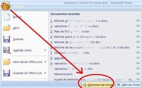 Mostrar más archivos recientes, Word y Excel – Geofumadas