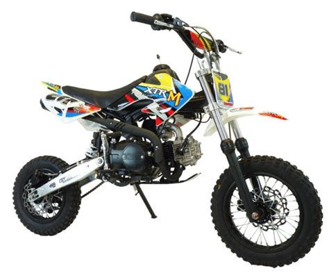 Moto cross 110cc 12/10 boite mécanique Kick starter jaune ...