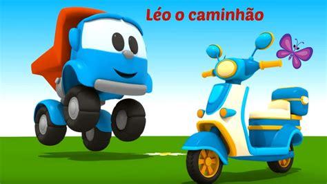 Moto de brinquedo. Léo o caminhão. Desenhos animados em 3D ...