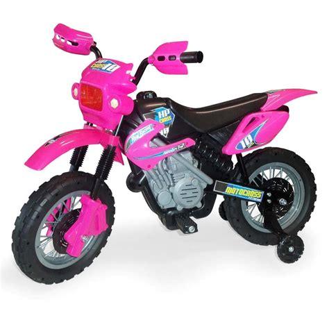 Moto Elétrica Mitro Infantil Motocross 242   Rosa   Moto ...