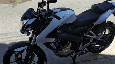 Moto pulsar 200 ns modelo 2015 blanca   YouTube