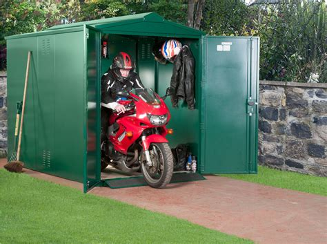 Motorcycle Storage Shed, 9ft x 5ft 2  Motorbike Garage ...