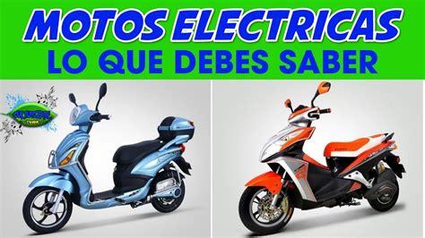 MOTOS Eléctricas  Lo Que Debes Tener En Cuenta Si Deseas ...