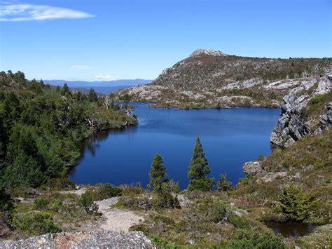 Mountains and lake landscape in Tasmania, Australia image ...