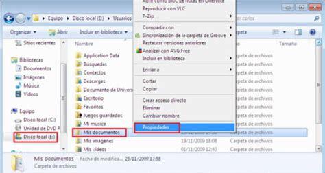 Mover Mis documentos a otra partición en Windows 7