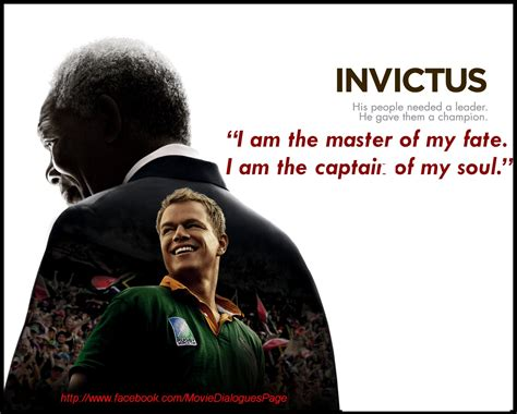 Movie Quotes and Dialogues: Invictus Movie Quotes