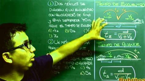 Móviles   Tiempo de Encuentro y Alcance   MRU   Ejercicios ...