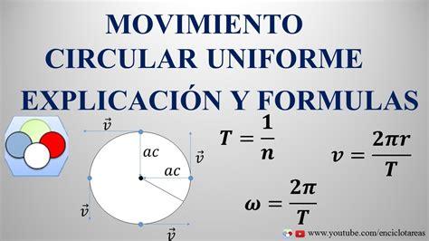 Movimiento Circular Uniforme  MCU   Explicación y Fórmulas ...