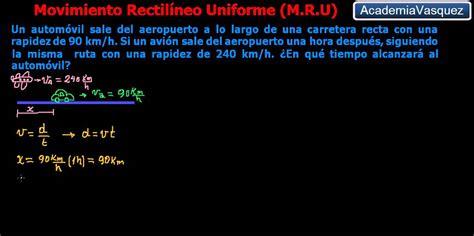 Movimiento Rectilíneo Uniforme, Ejercicio 1   YouTube