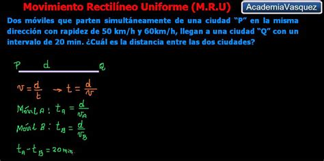 Movimiento Rectilíneo Uniforme, Ejercicio 3   YouTube