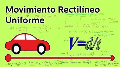 Movimiento rectilíneo uniforme   Física   Educatina   YouTube