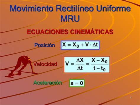 Movimiento Rectilineo Uniforme