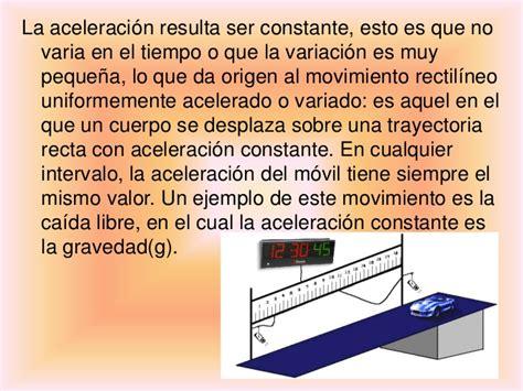 Movimiento Rectilineo Uniformemente Acelerado Fisica 1
