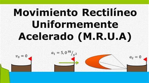 Movimiento rectilíneo uniformemente acelerado  M.R.U.A ...