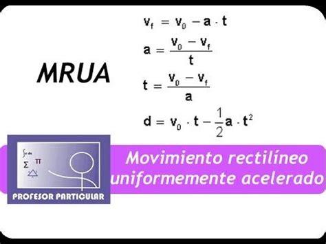 Movimiento rectilíneo uniformemente acelerado MRUA ...