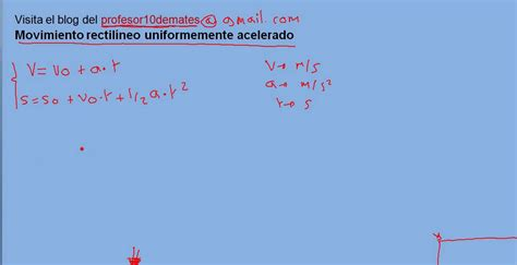 Movimiento rectilíneo uniformemente acelerado MRUA   YouTube