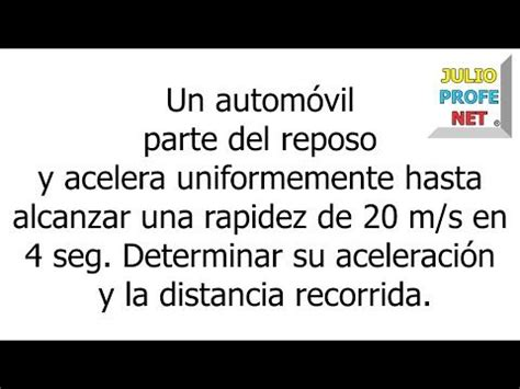 MOVIMIENTO RECTILÍNEO UNIFORMEMENTE ACELERADO   Problema 1 ...