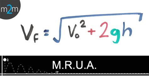 Movimiento rectilíneo uniformemente acelerado │ Fórmula Vf ...