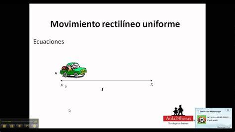 Movimiento rectilíneo uniformemente acelerado   YouTube