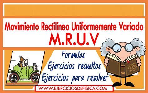 Movimiento Rectilíneo Uniformemente Variado   MRUV ...