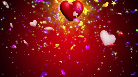 Moving Love Heart Animation   YouTube