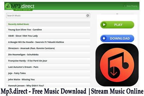 Mp3.direct   Free Music Download Website | Online Mp3 ...