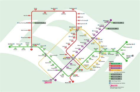 MRT : Mapa del metro de Singapur, Singapur