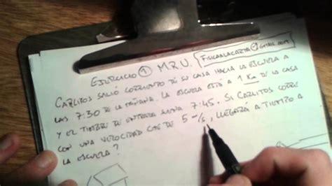 MRU Ejercicio 1 resuelto Movimiento Rectilíneo Uniforme ...