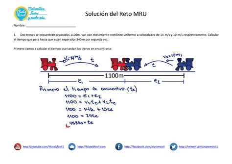 MRU Ejercicios Resueltos PDF
