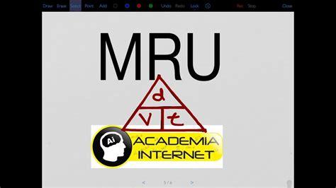 MRU ejercicios resueltos   YouTube
