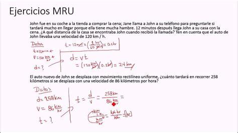 MRU Ejercicios Simples   YouTube