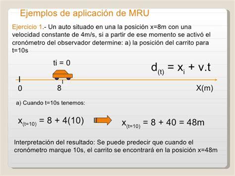 MRU Y MRV: CONCEPTO DE MRU Y MRUV