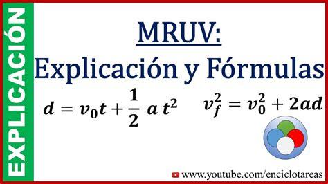MRUV Explicación y Fórmulas  subtitulado    YouTube