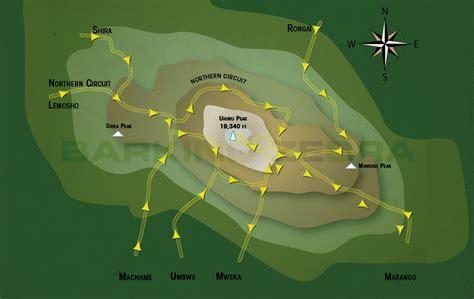 Mt. Kilimanjaro | Kilimanjaro Routes & Maps | Barking ...