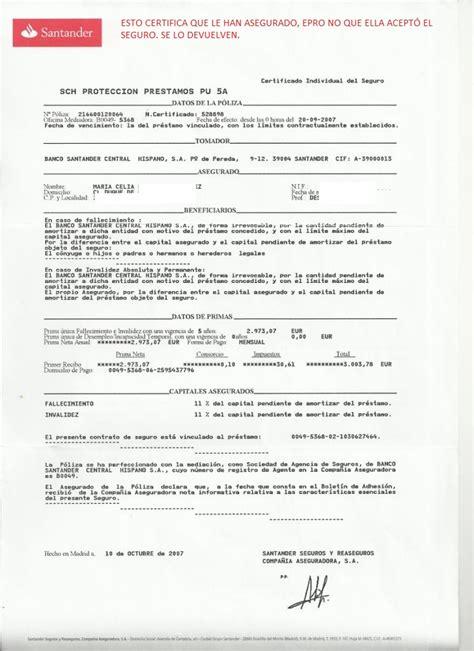 Muchos certificados que el Banco Santander quiere hacer ...