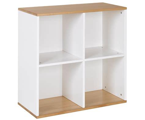 Mueble Almacenaje 4 Compartimientos Blanco Haya