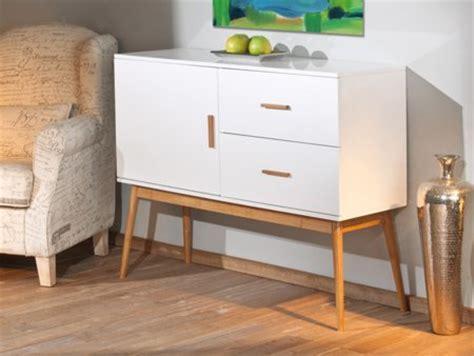 Mueble aparador vintage en nogal y blanco para el salón en ...