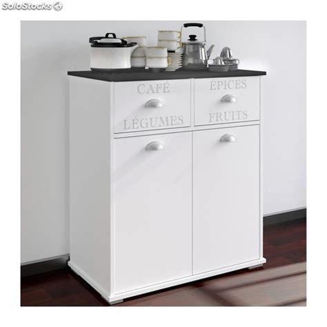 Mueble Auxiliar Cocina Blanco 2 Puertas + 2 Cajones Ref.352992