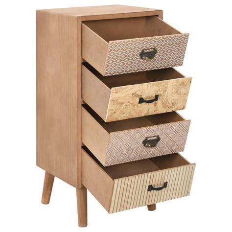 Mueble auxiliar con 6 cajonesmDFmarrón 35,5x30x74,5cm Vida ...