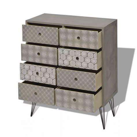 Mueble auxiliar con 8 cajones gris Vida XL 243392 ...